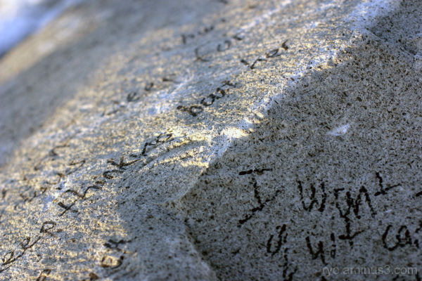 writings on rock