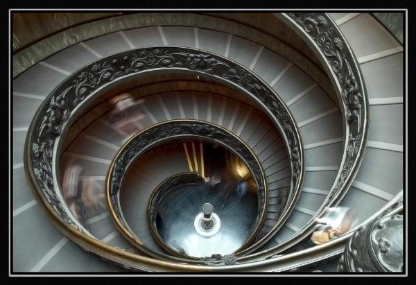 Escalera Museo del Vaticano
