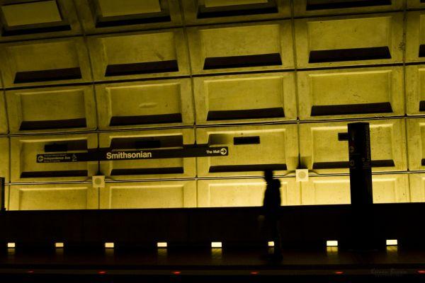 A Metro station in Washington DC