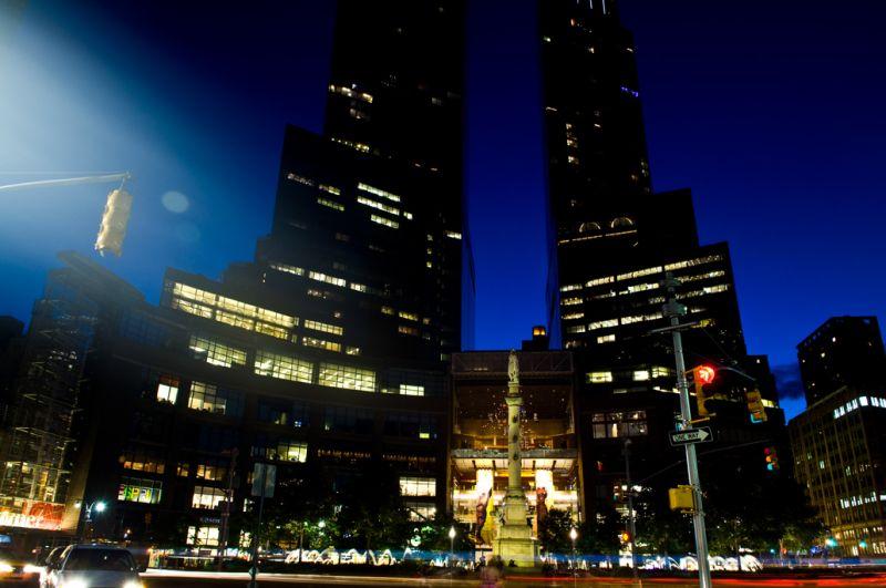 shot of Time Warner Center in midtown Manhattan