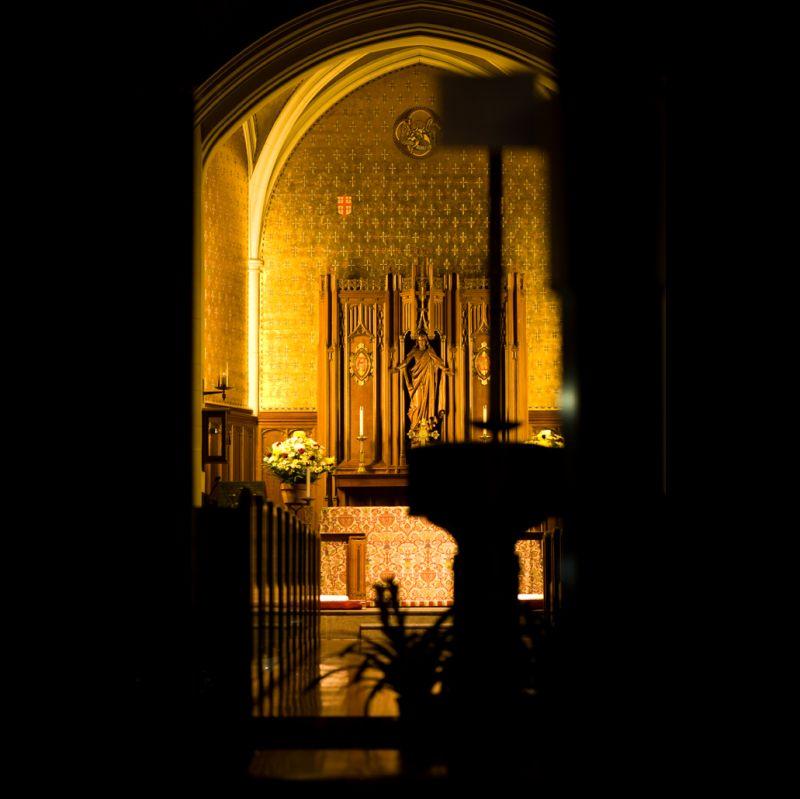 A shot of a church interior