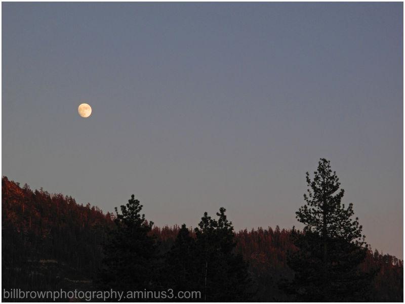 South Lake Tahoe Moonrise