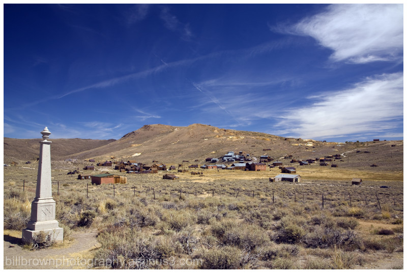 Bodie Ghost Town - Cemetery View