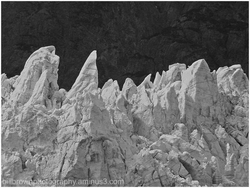 Alaska Glacier - Monochrome