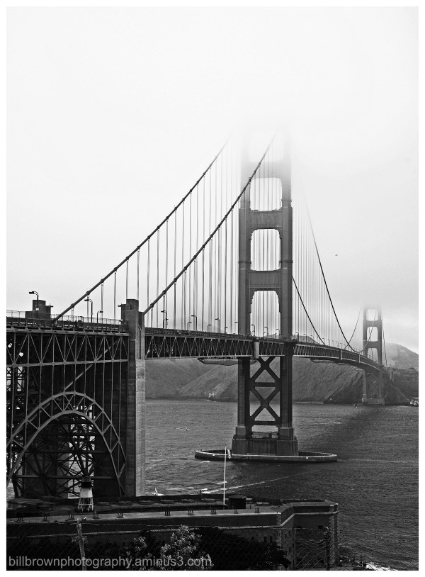 Golden Gate Bridge and Fog - 3 of 3