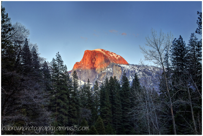 Half Dome - Evening Alpenglow