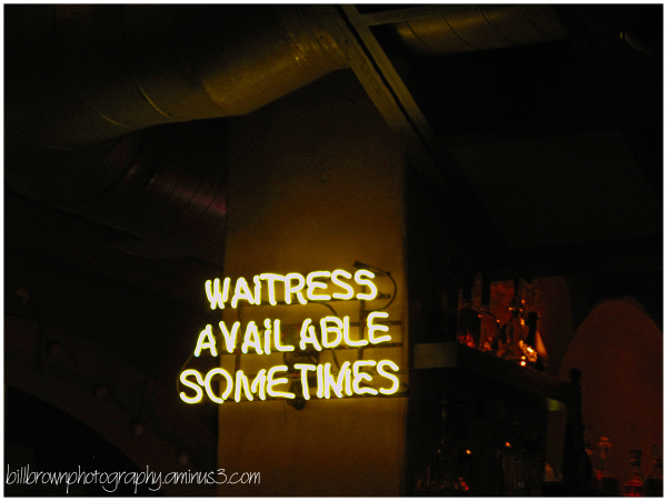 Waitress Available Sometimes ????