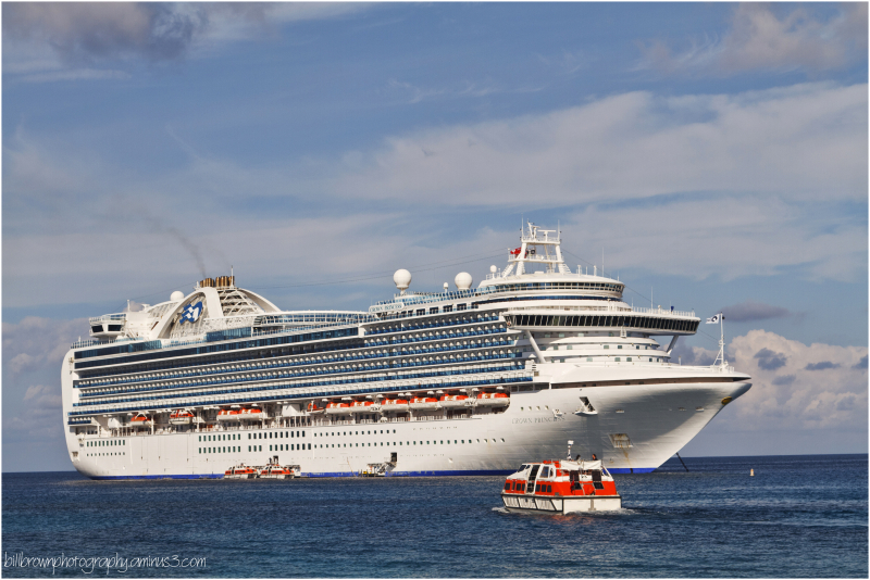 Crown Princess at Sea