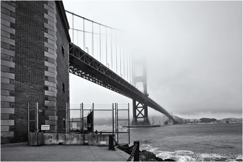 The Golden Gate and Fog - View 2