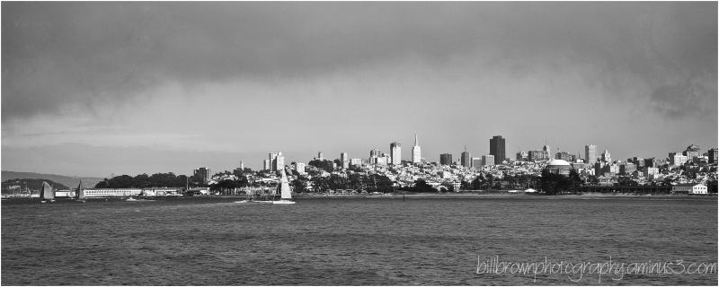 San Francisco Skyline with Fog