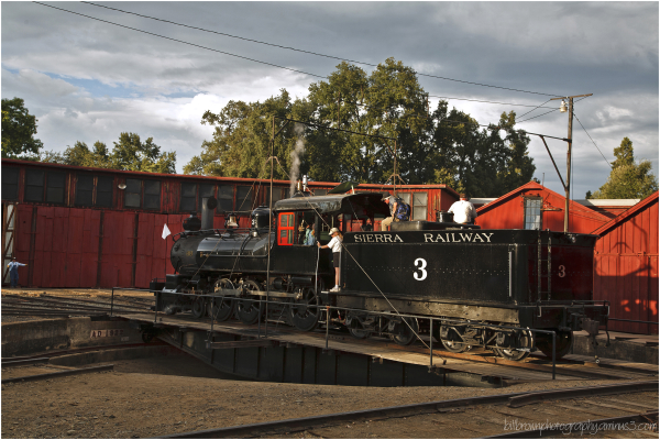 Sierra Railway No. 3 on Roundtable