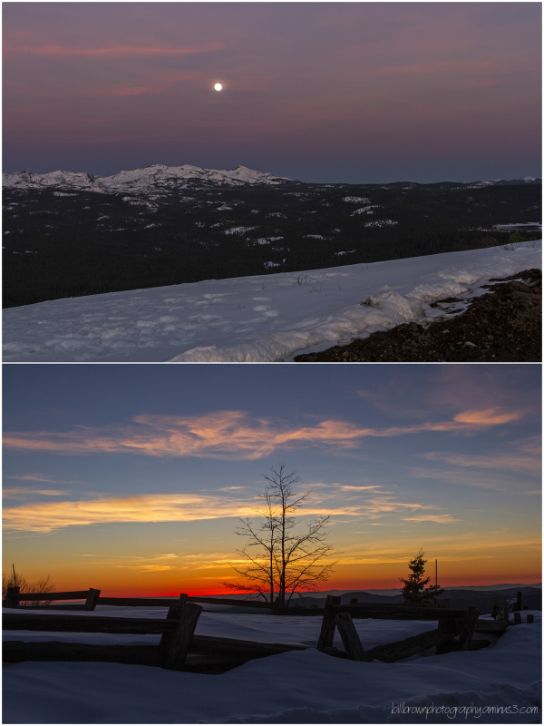 Moonrise/Sunset - Big Hiill Lookout
