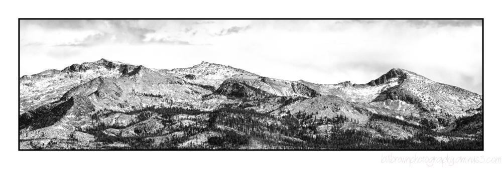 Sierra Mountain Range from Big Hill Lookout