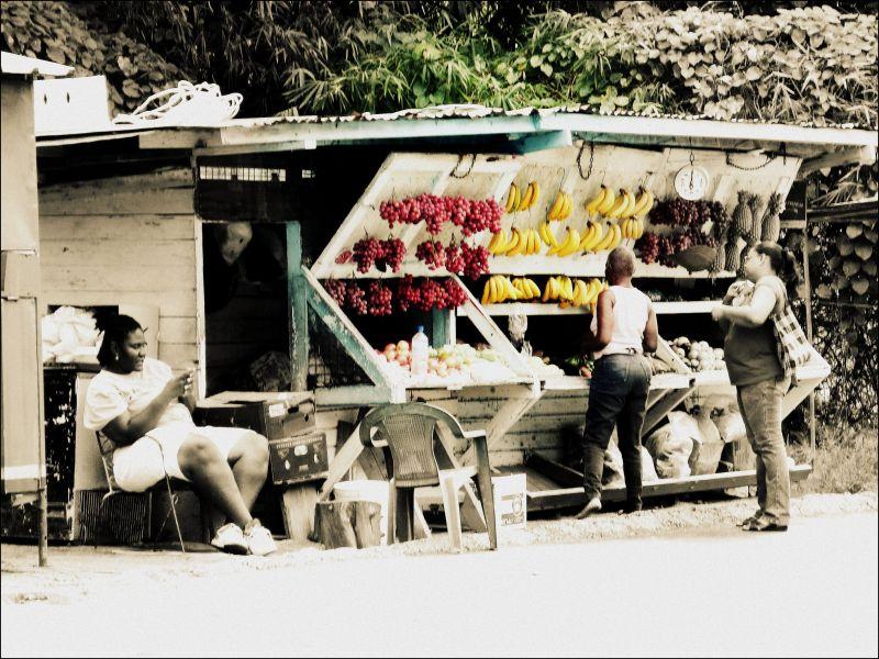 Fruit stall, Trinidad,