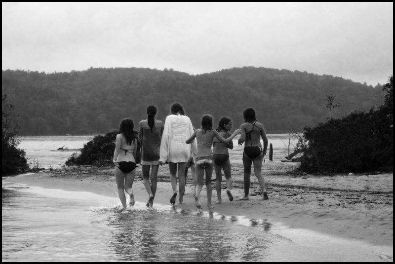 girls on beach, Quebec, Canada