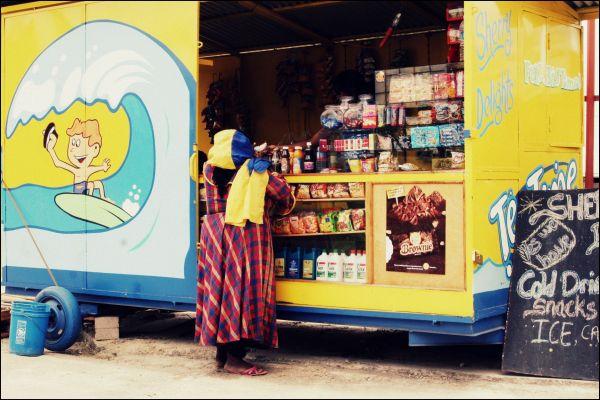 buying treats at a stall, trinidad
