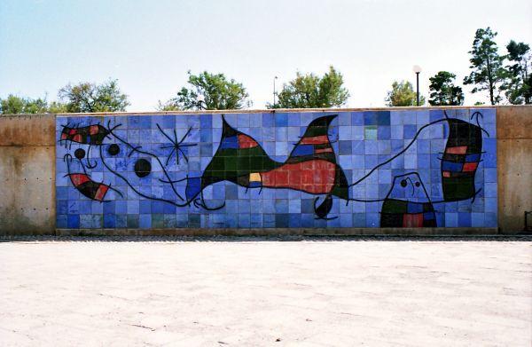 Fresque de Mirò à Palma