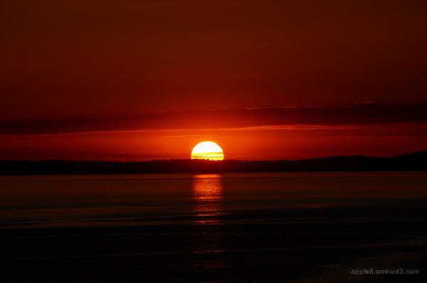 Sunset over Swansea
