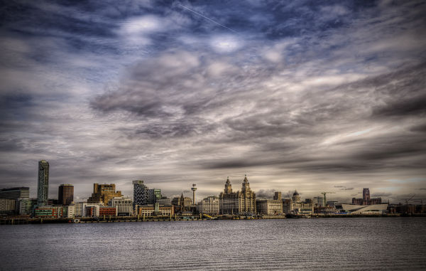 Cityscape of the Liverpool City Skyline