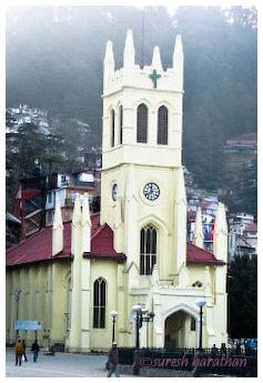 A Church at Shimla Ridge