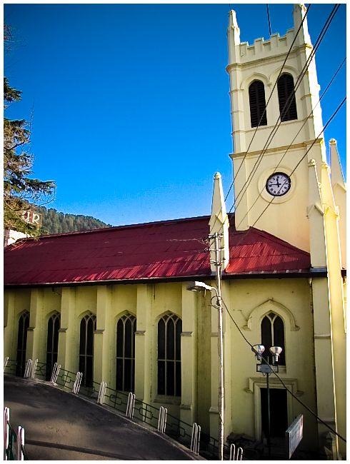 The Famous Church at Shimla Ridge