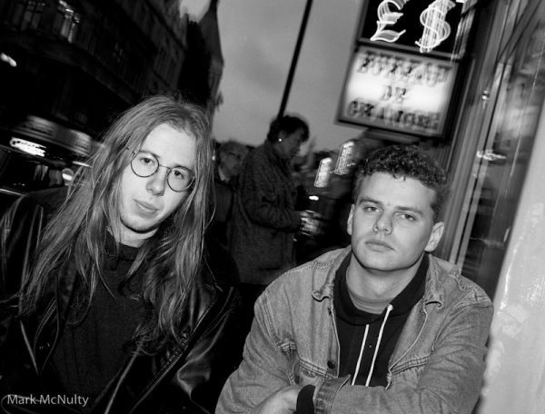 The Chemical Brothers in Soho, London, early 90's.