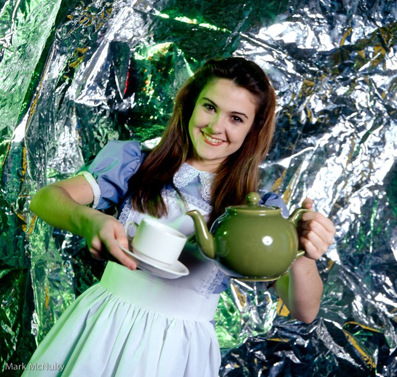 Gillian Kearney as Alice In Wonderland.