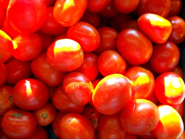 Tomatoes here are very RED!