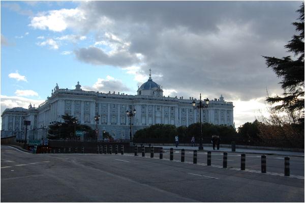 Atardecer en el Palacio Real, Madrid