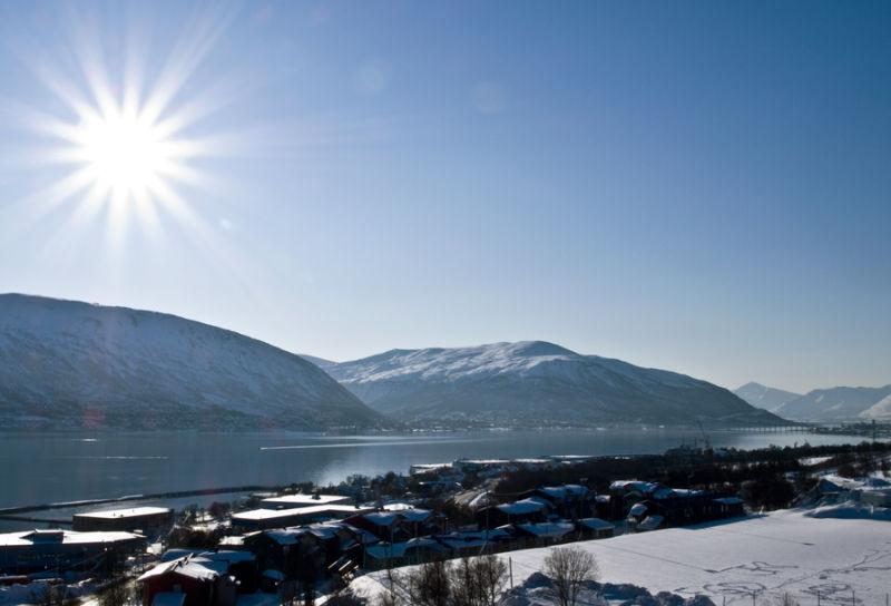 Tromsø view on a sunny day