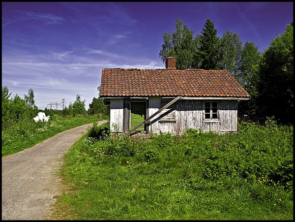 A old farmhand house in Hobøl, Norway
