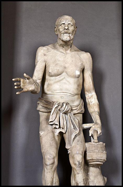 A statue in the Vatican museum, Rome
