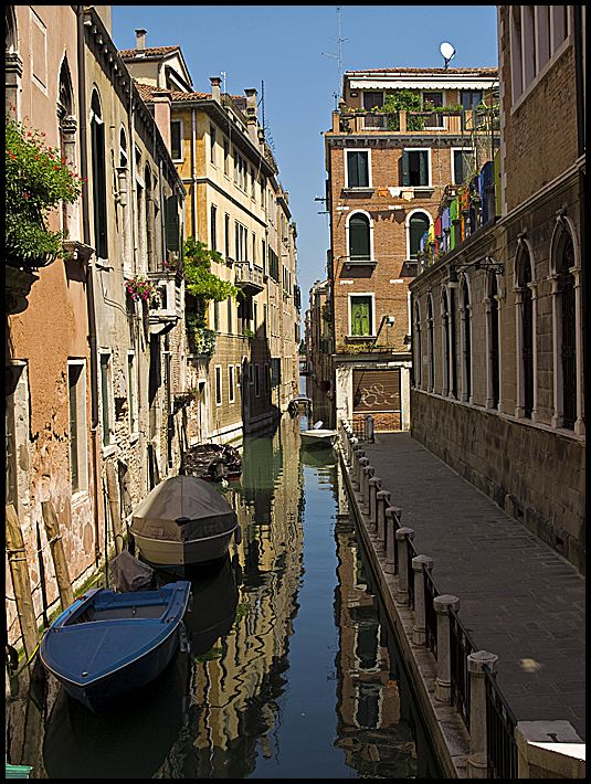 One of the tight watercanals in Venice