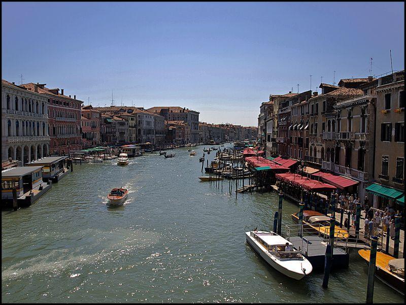 Grand Canale in Venice seen from the Rialto bridge