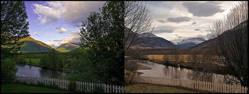 Contrast between summer and winter
