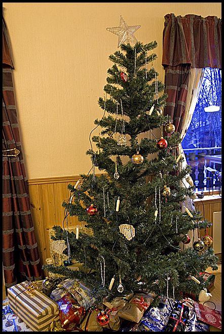 A plastic christmas tree