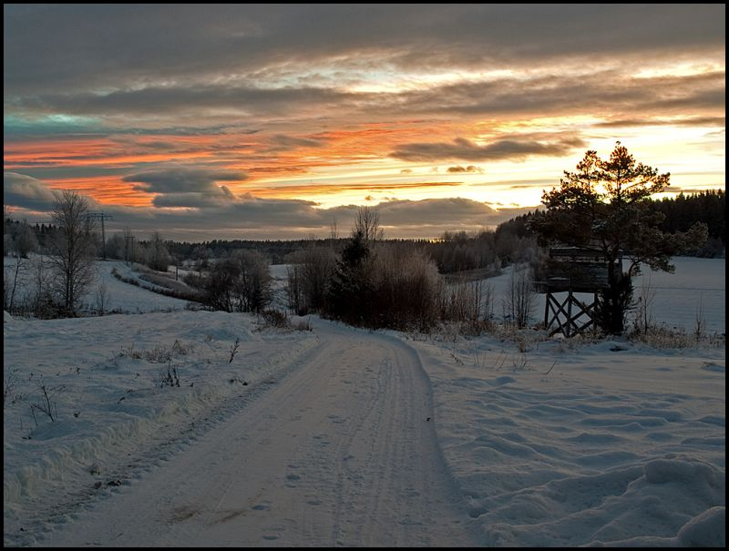Fantastic light in Norway on new years eve 2010