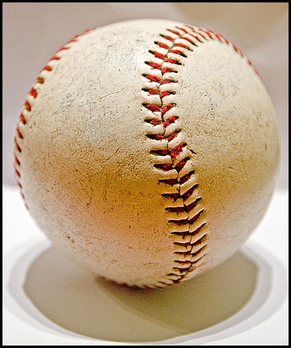 Picture of a used baseball