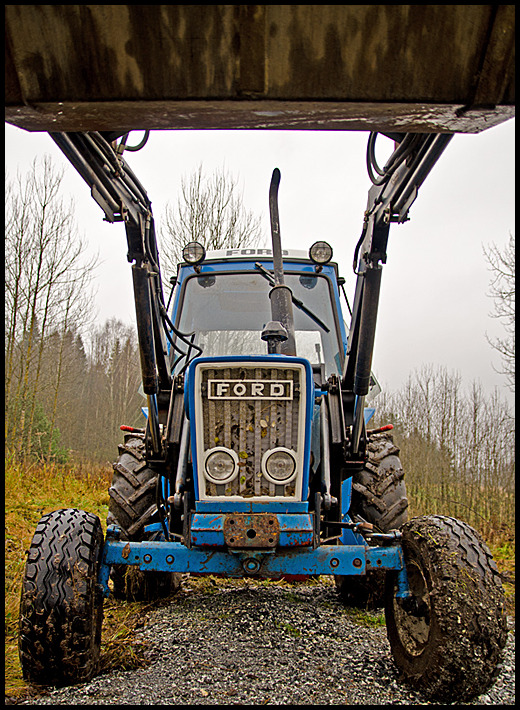 An old Ford tractor
