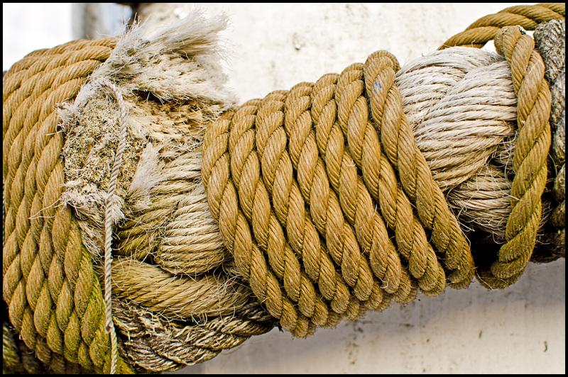 Closeup of ropes