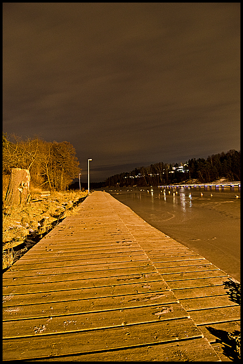 Night picture from Ørehavna