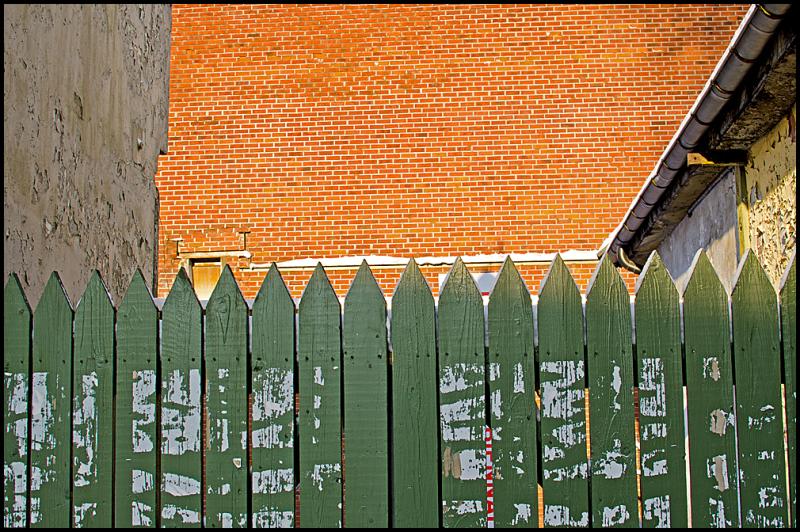 A fence in Møllebyen in Moss