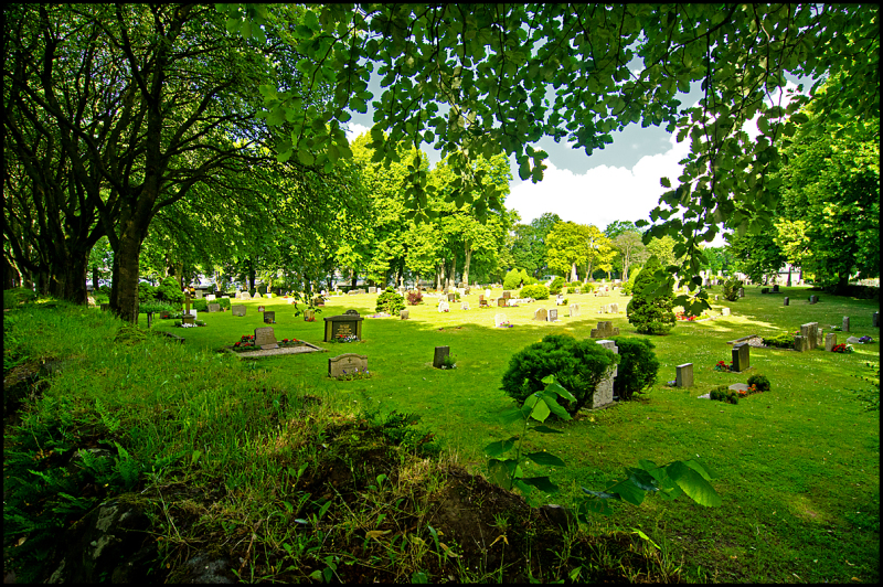 A graveyard in Moss, Norway
