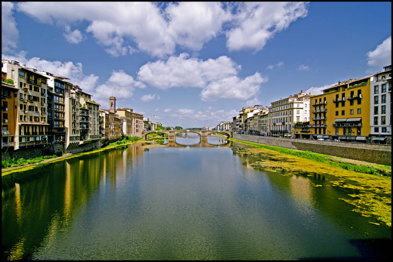 From the Ponte Vecchio in Florence