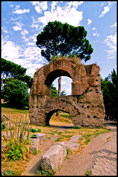 Ruins at Palentine hill in Rome