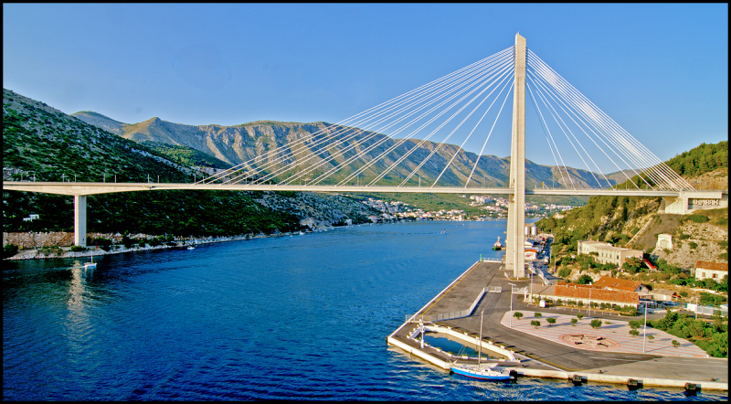 The Franjo Tuđman Bridge in Dubrovnik, Croatia