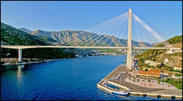 The Franjo Tuđman Bridge in Dubrovnik, Croatia
