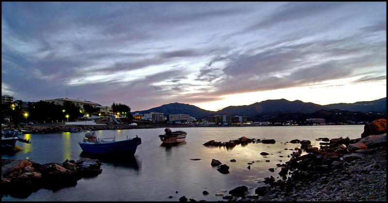 Sunset in Pigadia on Karpathos