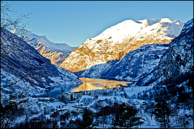 Geiranger in Norway in the winter