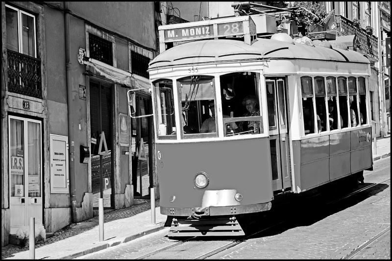 Tram 28 in Lisbon